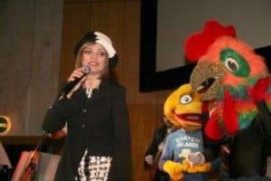 Любаша спела в ЦДХ для детей и их родителей
