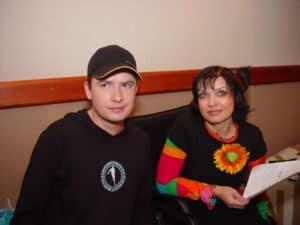 """С Андреем Данилко на записи дуэта """"Сама себе"""" в 2005г."""