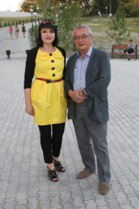 С Юлием Кимом - Любаша - почетный гость 21-го Всеросийского фестиваля визуальных искусств