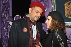 С Ф.Киркоровым на своем концерте в клубе