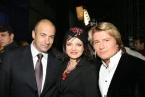 С Игорем Крутым и Николаем Басковым на Песне года