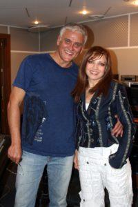 С А.Маршалом в студии на записи дуэта - Тучка