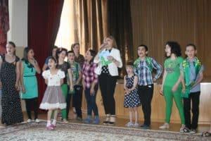 Детский дом в Каспийске - Любаша на Матче легенд в Дагестане
