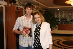 С Егором Титовым на Матче легенд в Дагестане