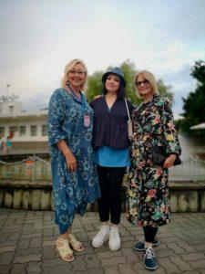 Со Светланой Томой и Натальей Хорохориной на фестивале в Орленке